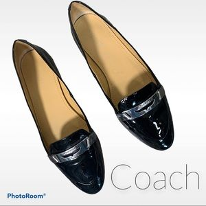 Coach 6.5 Ruthie patent driving loafer flats